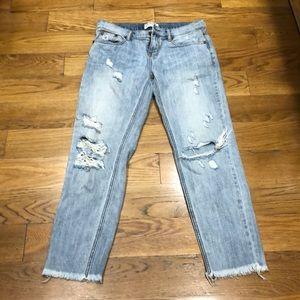 One Teaspoon distressed light denim jeans